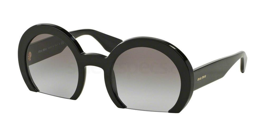 cut off round glasses miu miu