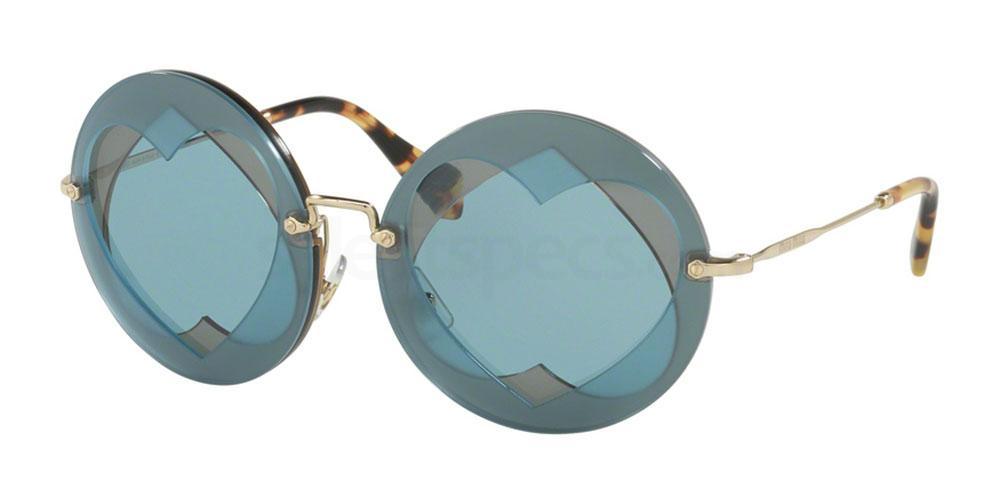 Miu Miu sunglasses light blue Pirelli Calendar 2018