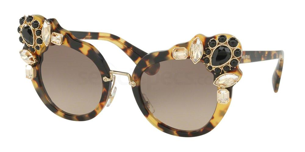 Miu Miu cat eye embellished sunglasses winter 2016