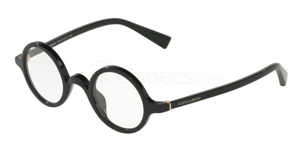 D&G optical black round frame 2017 men eyewear