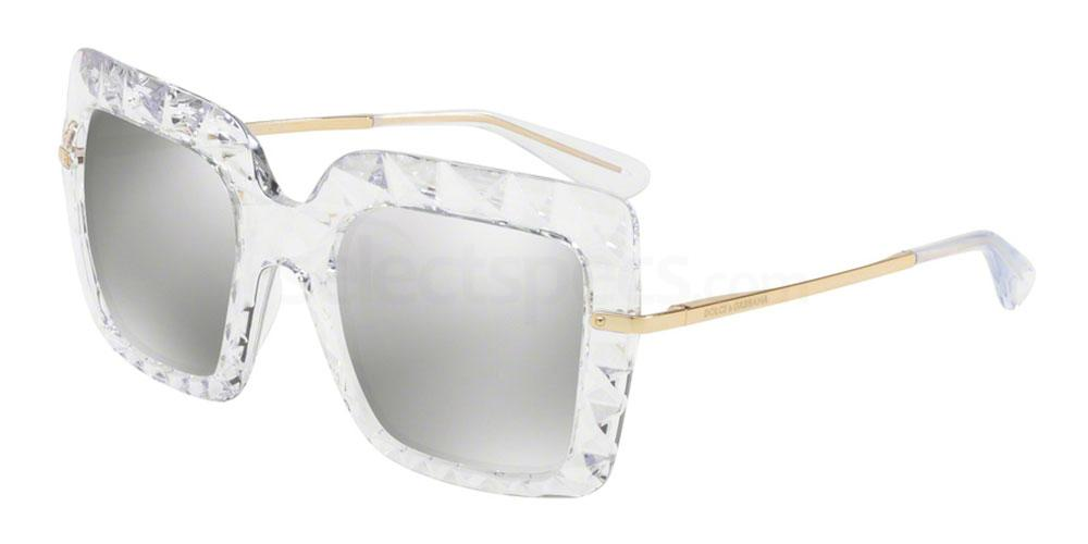D&G white squared sunglasses