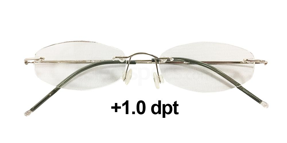 29121110 Reading Aids - Rimless Reader's Round - Silver Accessories, Eschenbach