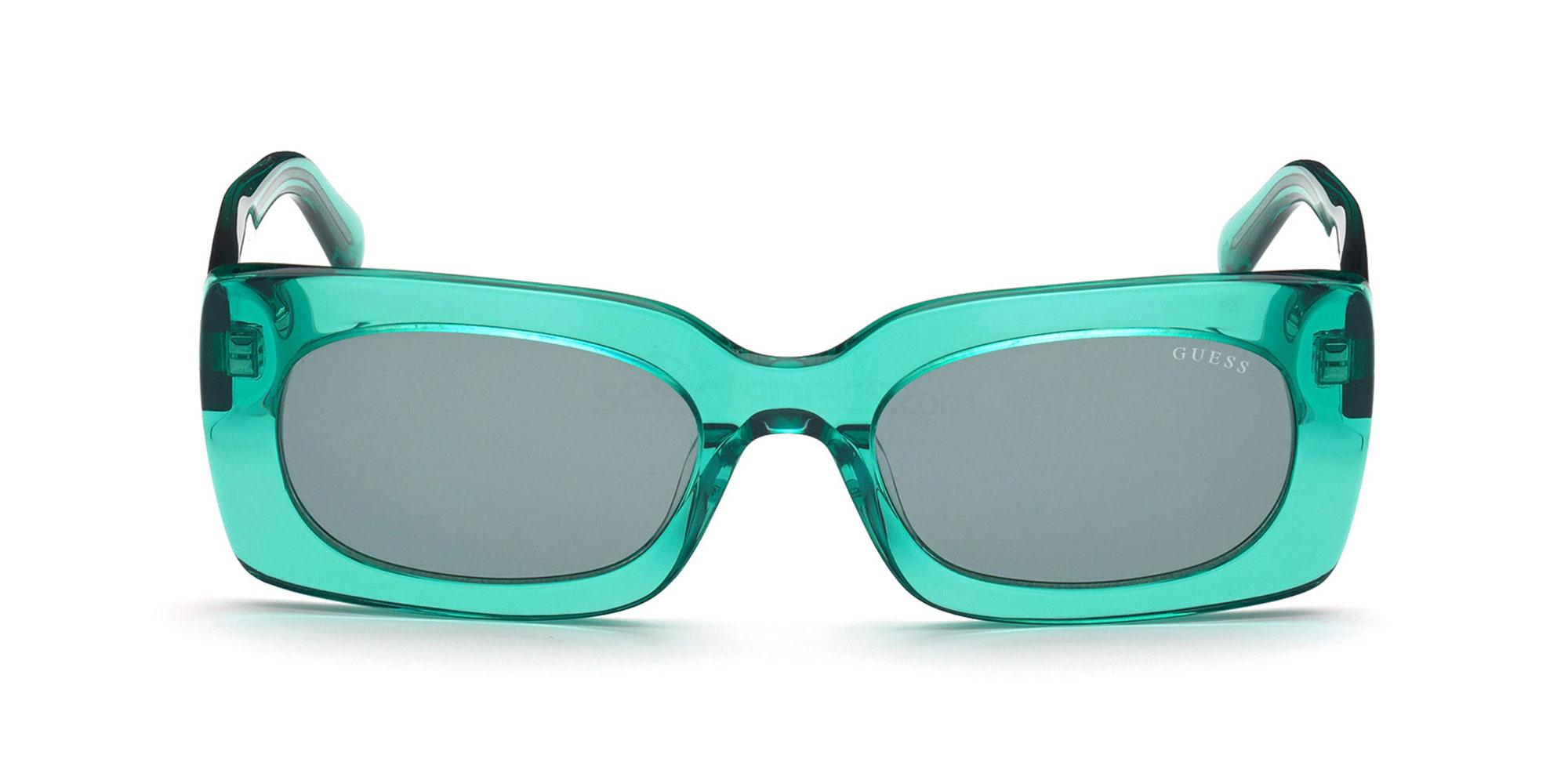 rectangle sunglasses trend 2020 Guess GU8225