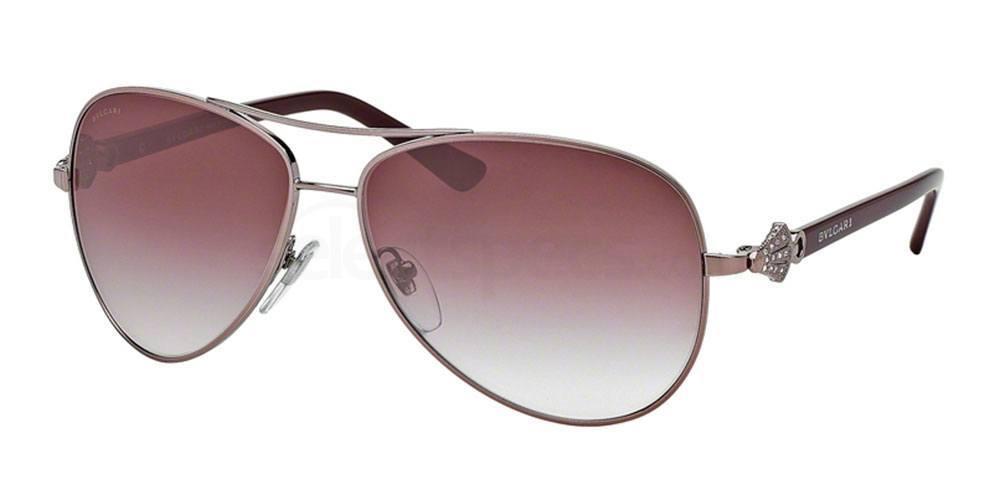Bvlgari red aviator sunglasses