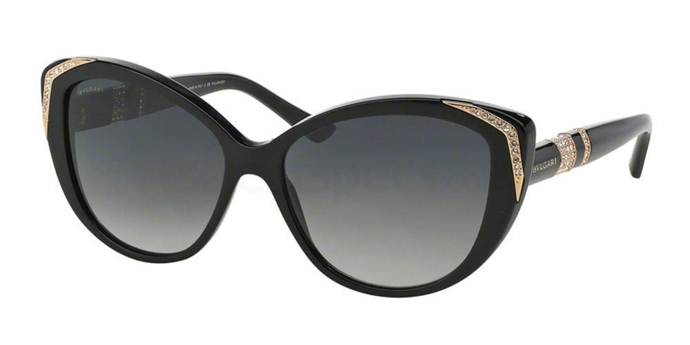 black cat eye sunglasses Bvlgari