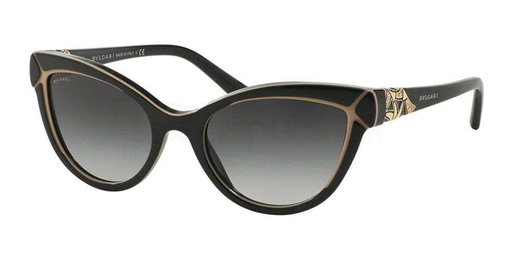 Black bulgar sunglasses gold line drawing