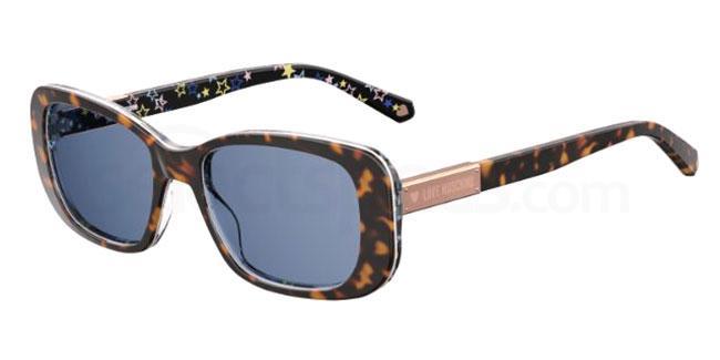086 (KU) MOL027/S Sunglasses, Love Moschino