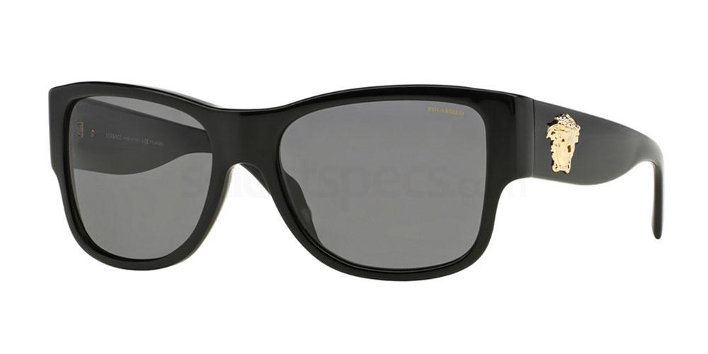 Versace man cool black sunglasses for 2016 holidays