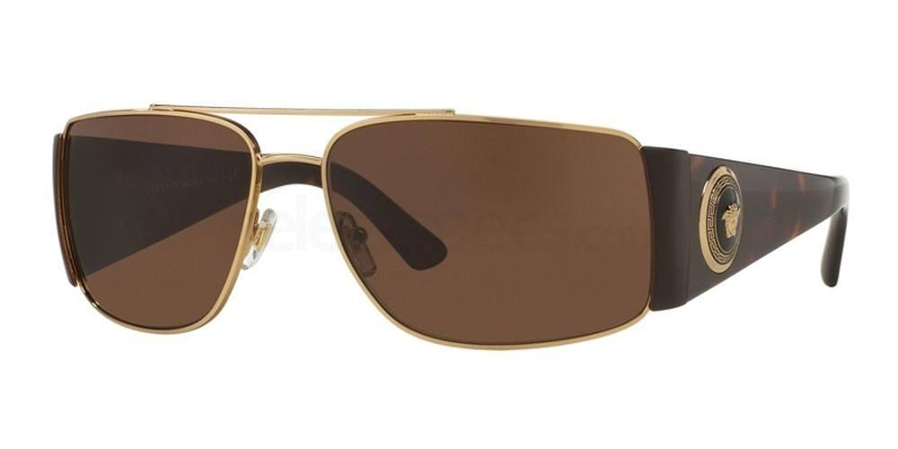 Light brown Versace chic sunglasses classy man