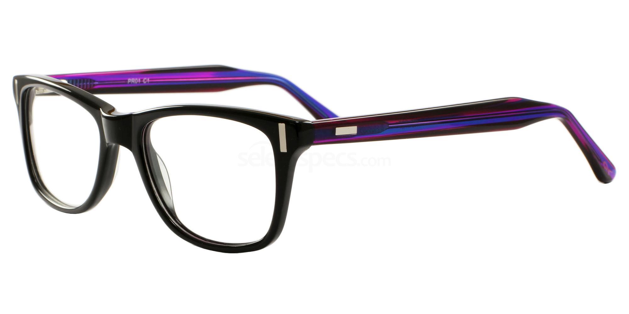 C1 01 Glasses, Pink Ribbon