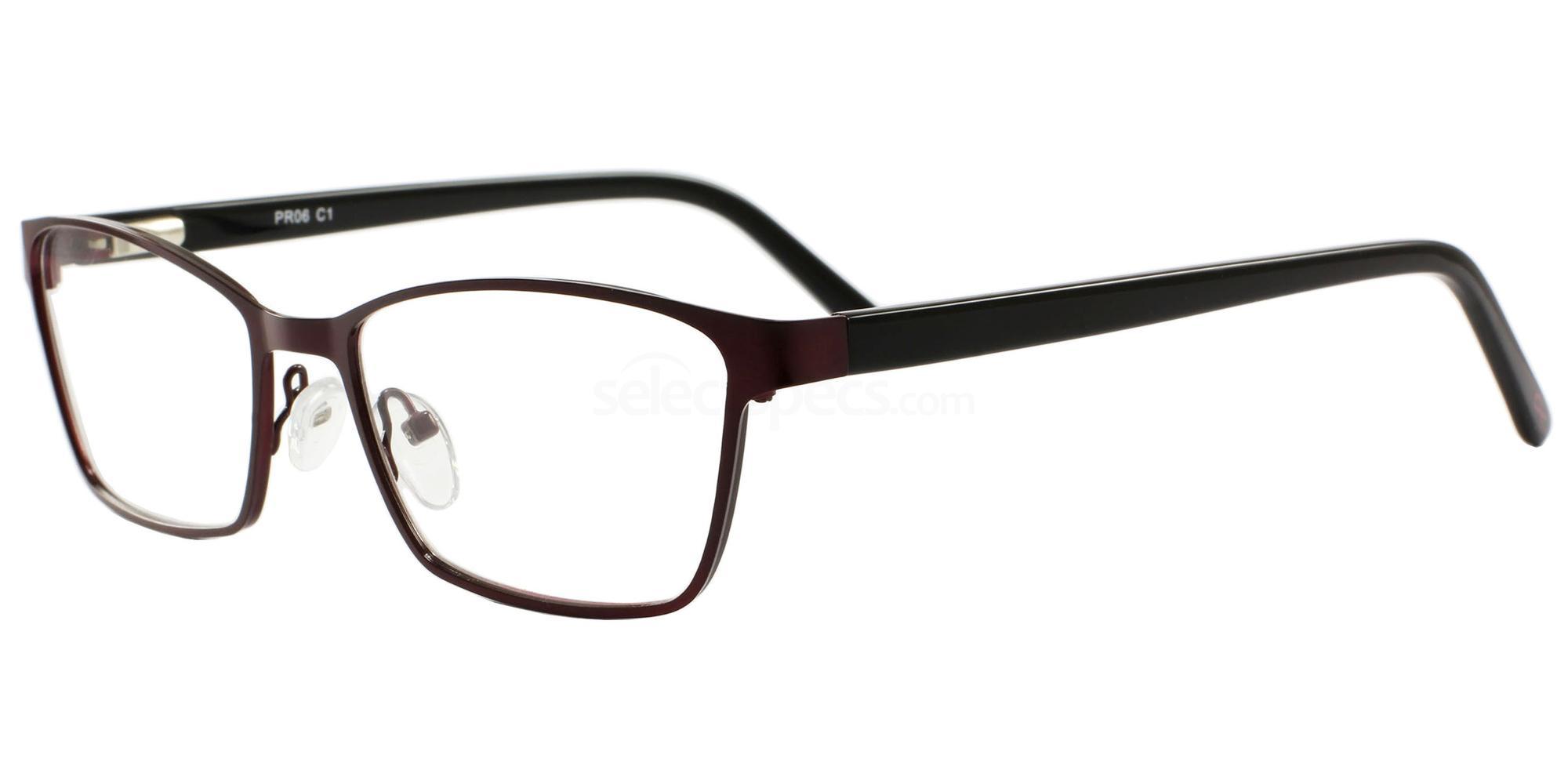 C1 06 Glasses, Pink Ribbon