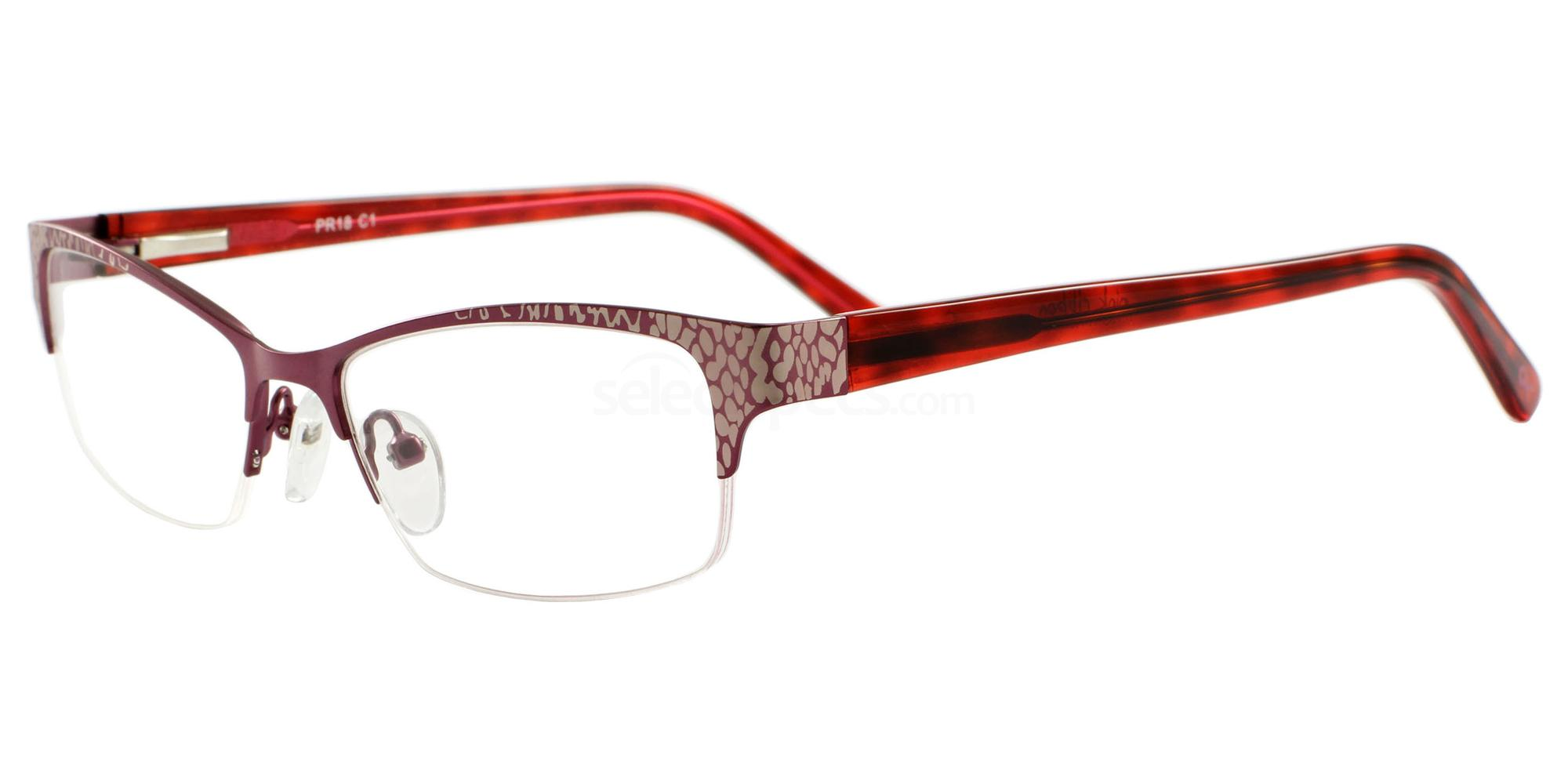 C1 18 Glasses, Pink Ribbon