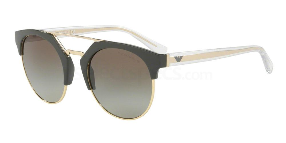 Emporio Armani gold and beige sunglasses