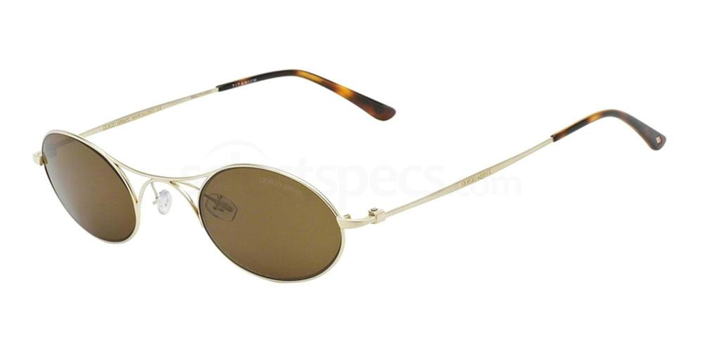 gold dark brown Armani round sunglasses