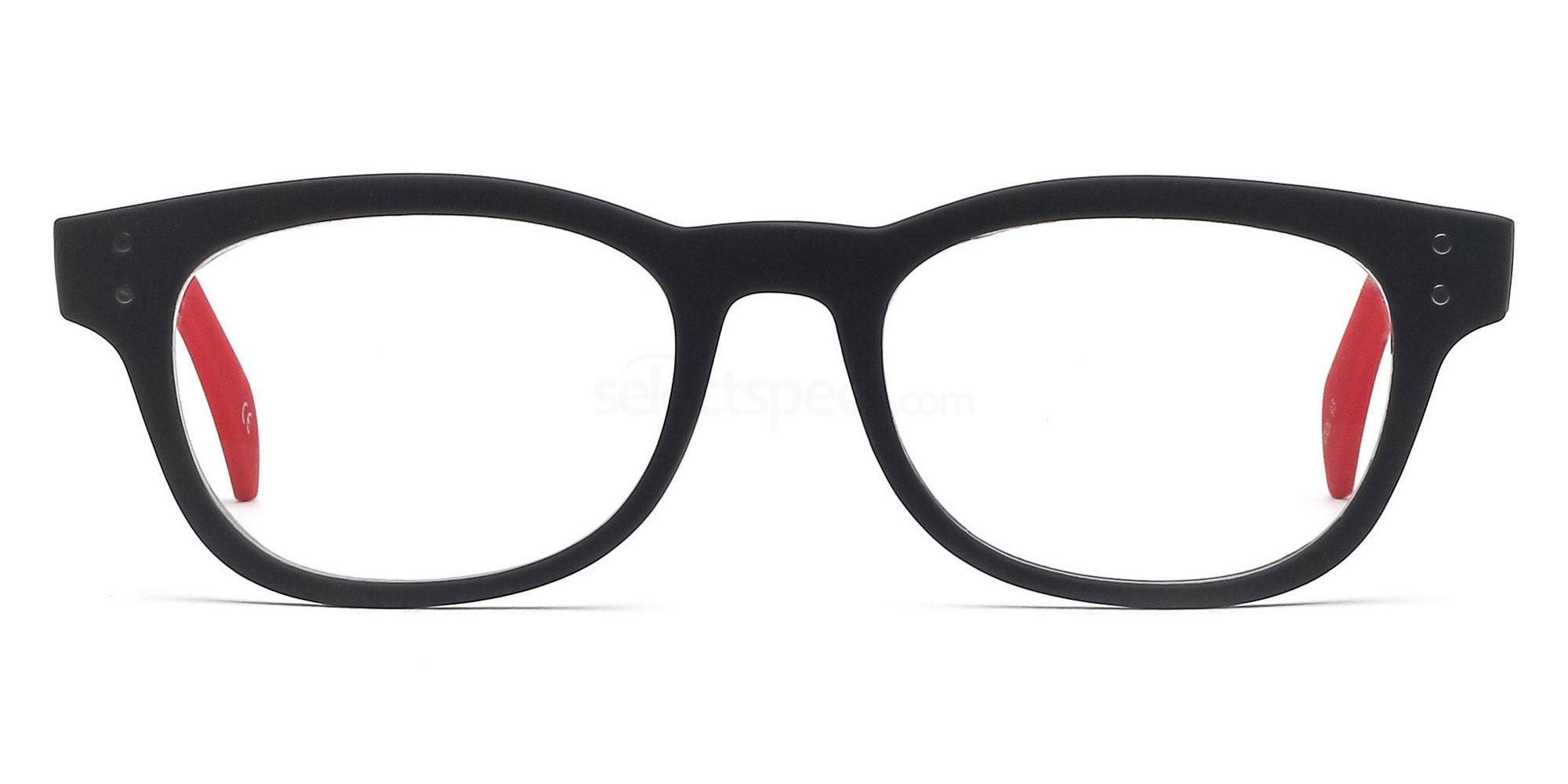 C93 2249 - Matte Red Glasses, Savannah