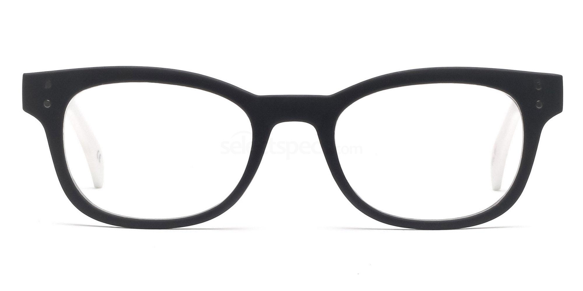 C91 2249 - Matte White Glasses, Savannah