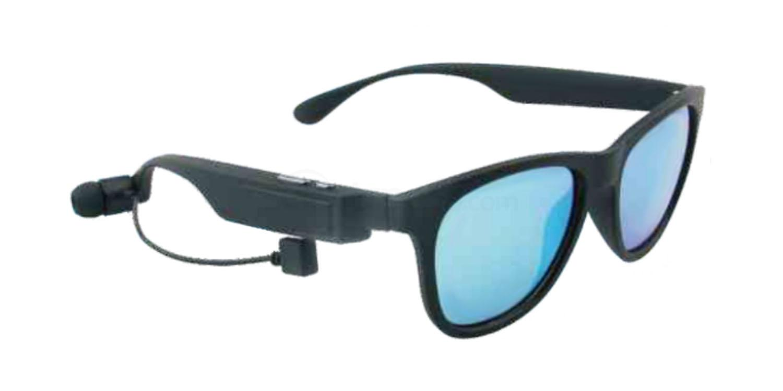 Black C020A - Polarised Bluetooth Earphone Sunglasses Sunglasses, Hertz Eyewear