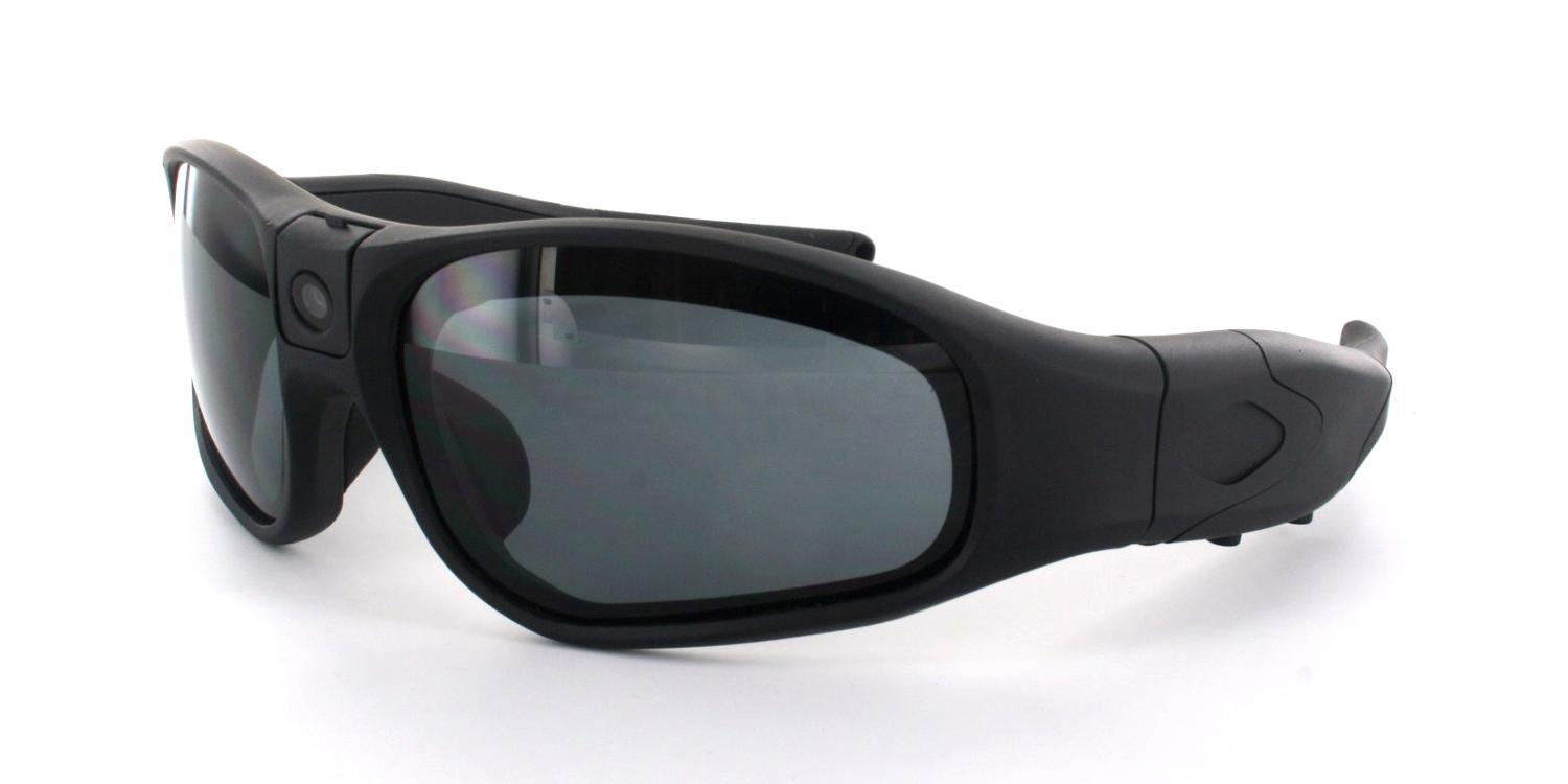 Black CW-E9 - 1080p HD Video Camera Sunglasses, Hertz Eyewear