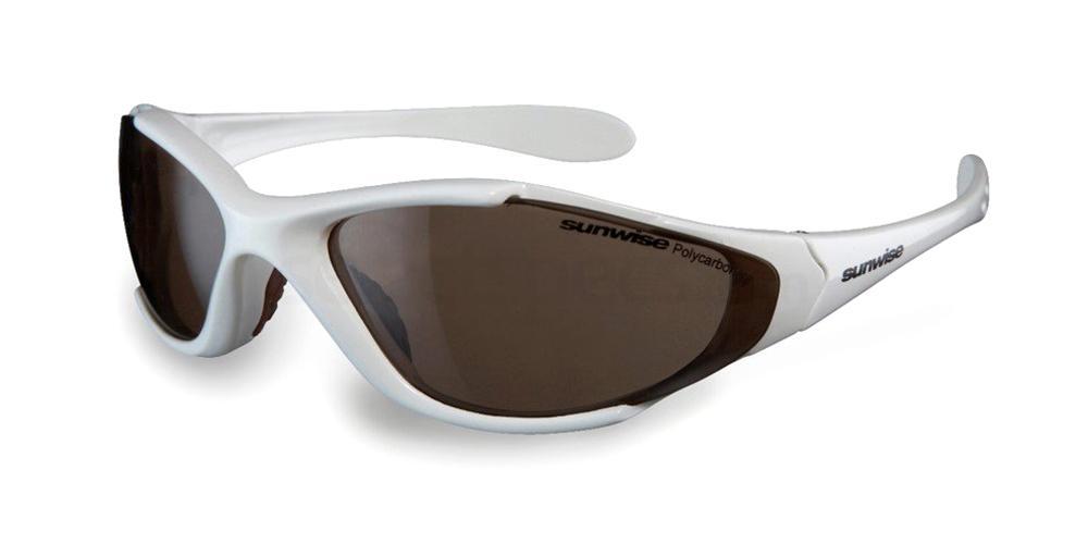 White Predator Sunglasses, Sunwise Junior