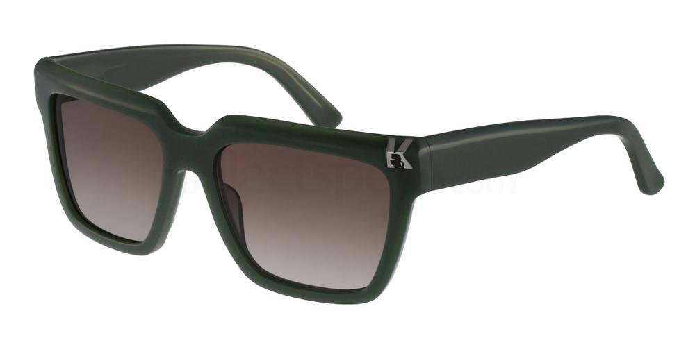 Karl-Lagerfeld-Green-Sunglasses-worn-by-Kendall-Jenner