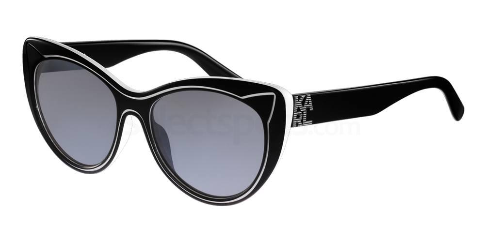 Karl Lagerfeld cat-eye black and white