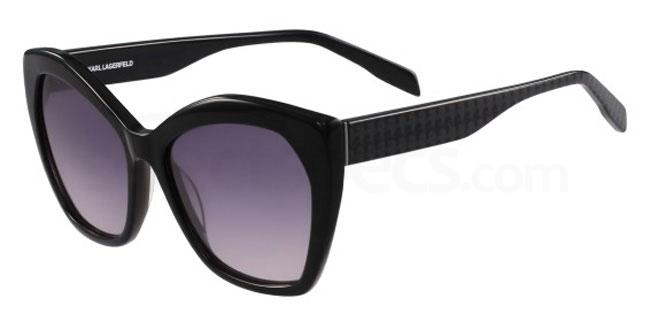 Black cat- eyes Karl Lagerfeld sunglasses