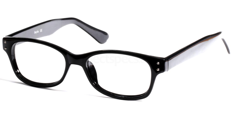 Black 12TH BASE Glasses, Look Designs