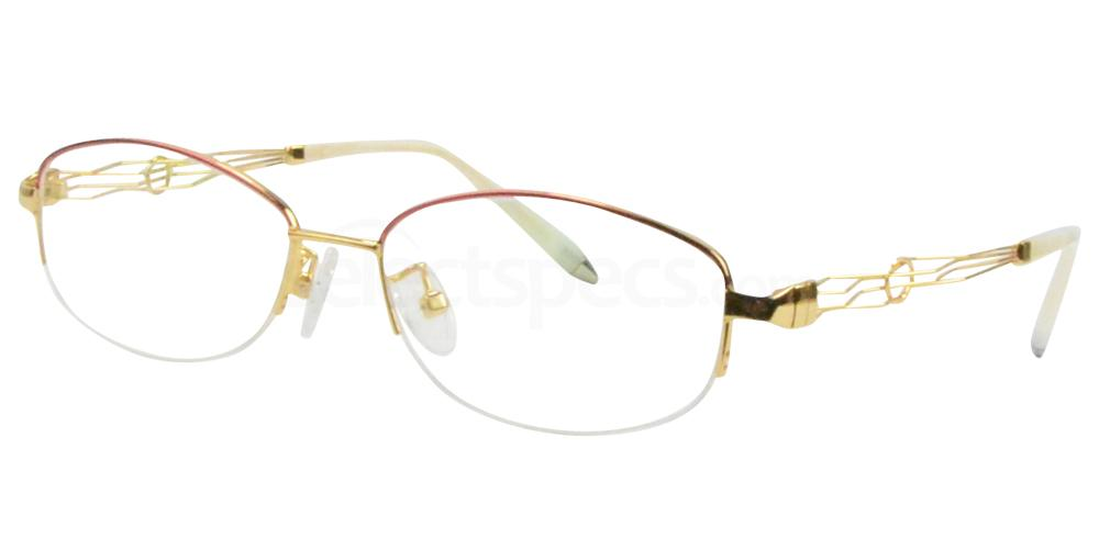 Gold/Red B-56156 Glasses, Sigma