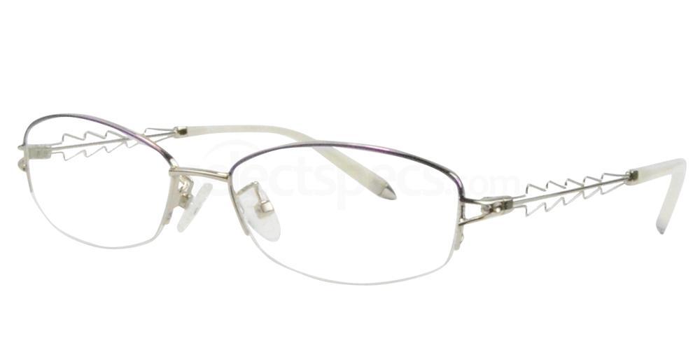 Purple/Silver B-56157 Glasses, Sigma