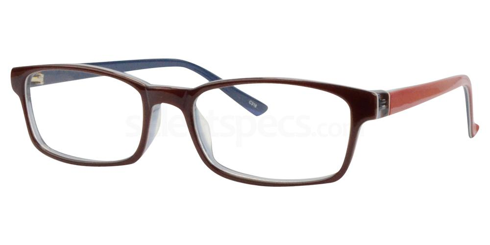 Burgundy/Blue BL8023 Glasses, Sigma