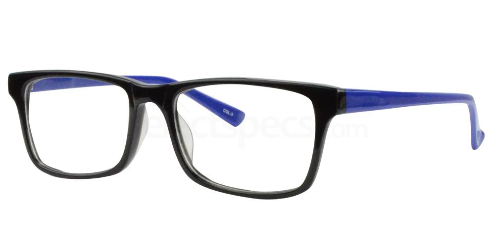 Black/Blue BL8003 Glasses, Sigma