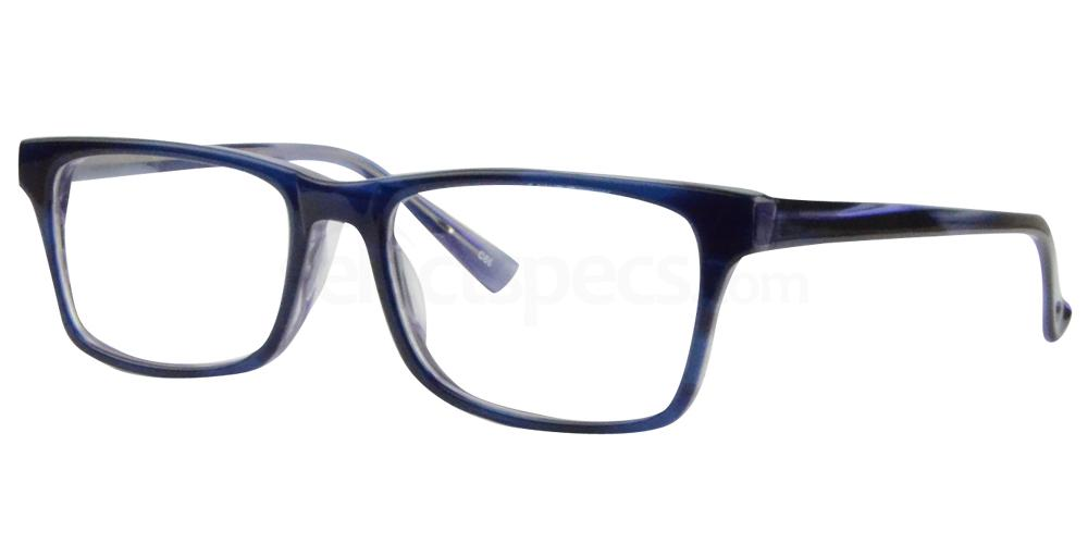 Black/Purple (Very Dark Blue) BL8003 Glasses, Sigma