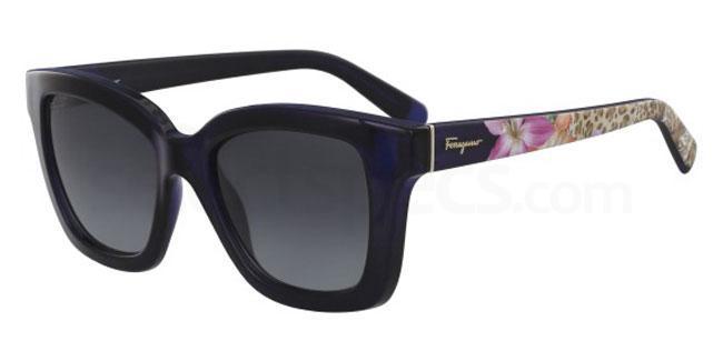 414 SF858S Sunglasses, Salvatore Ferragamo