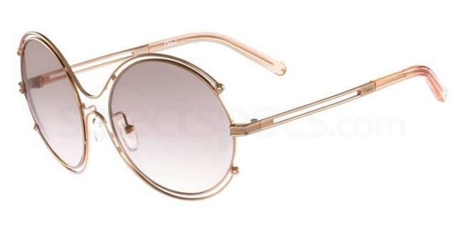 round retro sunglasses lily cole style