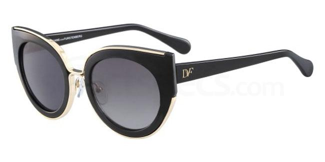 Diana Von Fustenberg black cat -eye sunglasses, Alissa Violet