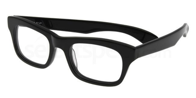 Black P049 Glasses, Booth & Bruce Design