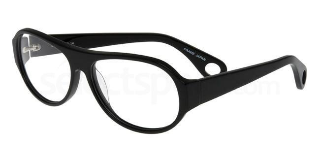 Black P058 Glasses, Booth & Bruce Design
