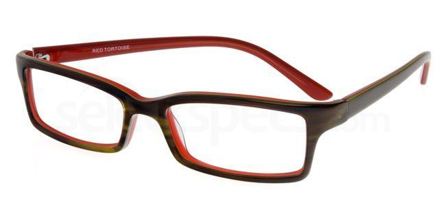 Red Tortoise P021 Glasses, Booth & Bruce Design