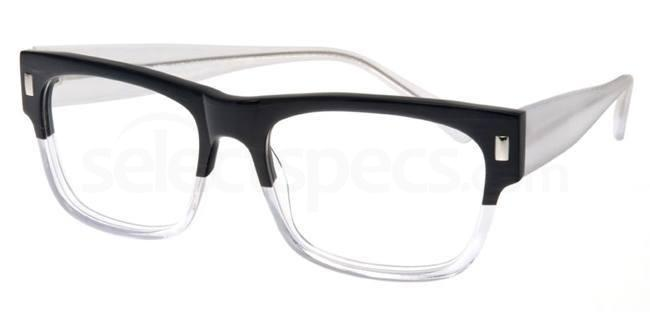 Black and Crystal P023 Glasses, Booth & Bruce Design