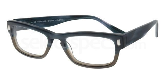 Blue Tortoise Brown Crystal P025 Glasses, Booth & Bruce Design