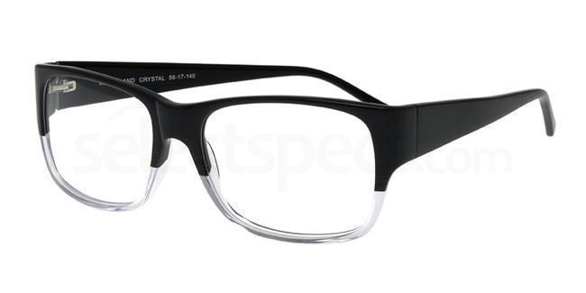 Black and Crystal P031 Glasses, Booth & Bruce Design
