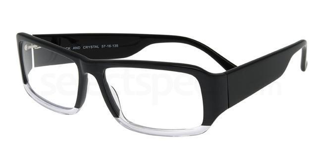 Black and Crystal P032 Glasses, Booth & Bruce Design