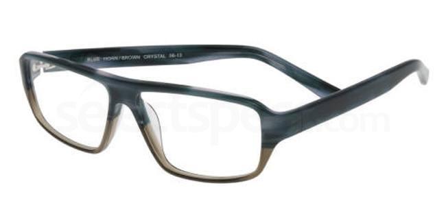 Blue Horn / Brown Crystal P037 Glasses, Booth & Bruce Design