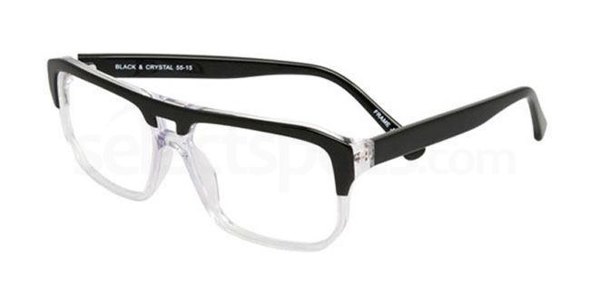 Black and Crystal po61 Glasses, Booth & Bruce Design