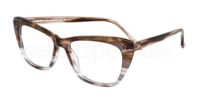 Horn and Grey Crystal po63 Glasses, Booth & Bruce Design