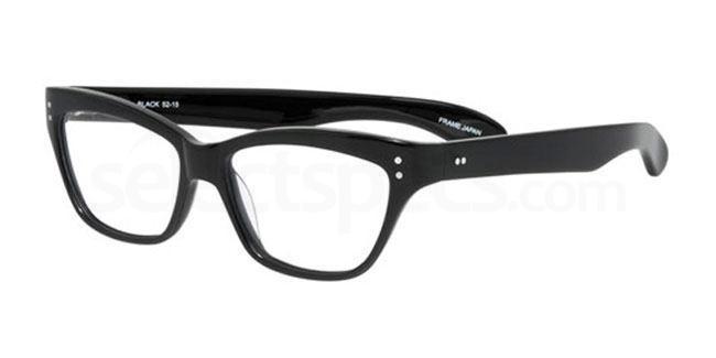 Black po68 Glasses, Booth & Bruce Design