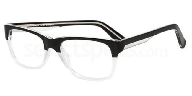 Black and crystal 911 Glasses, Booth & Bruce Design
