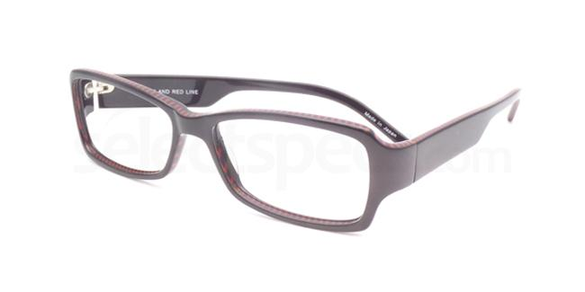 Black and red line po01 Glasses, Booth & Bruce Design