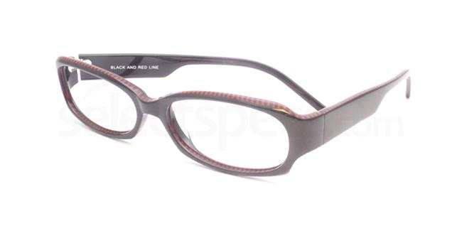 Black and Red Line po02 Glasses, Booth & Bruce Design