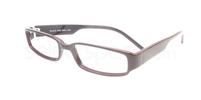 Black and Red Line po04 Glasses, Booth & Bruce Design